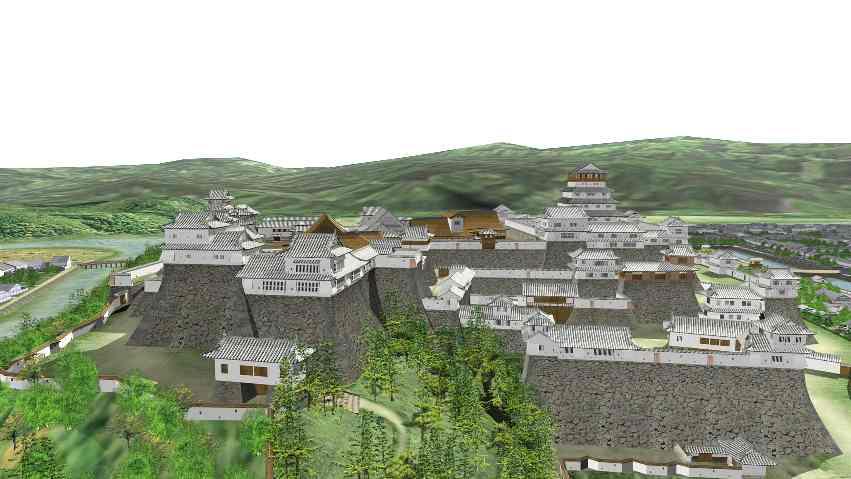 日本有数の櫓の数を誇る津山城 |...